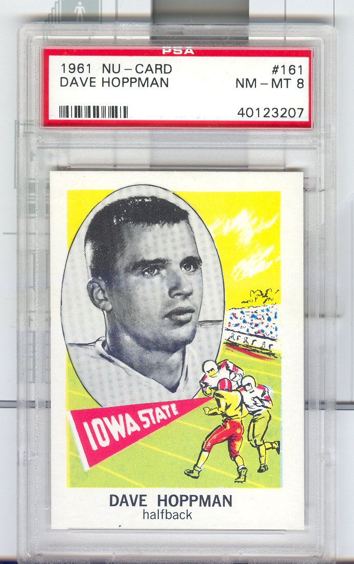 1961 Nu-Card #161 Dave Hoppmann