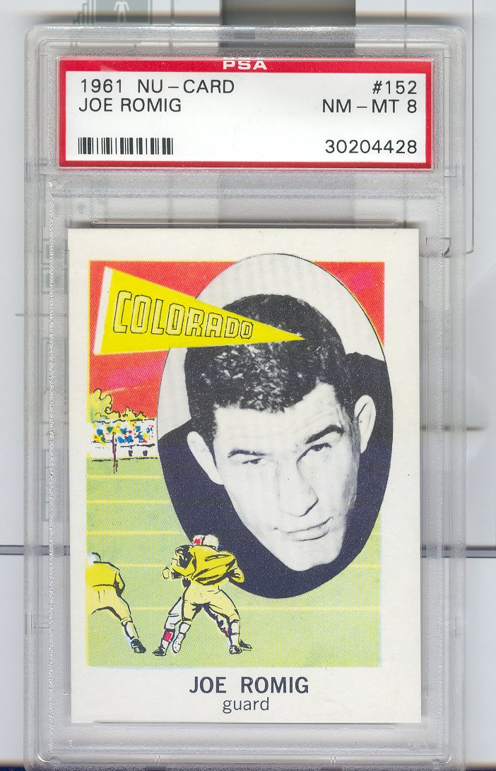 1961 Nu-Card #152 Joe Romig