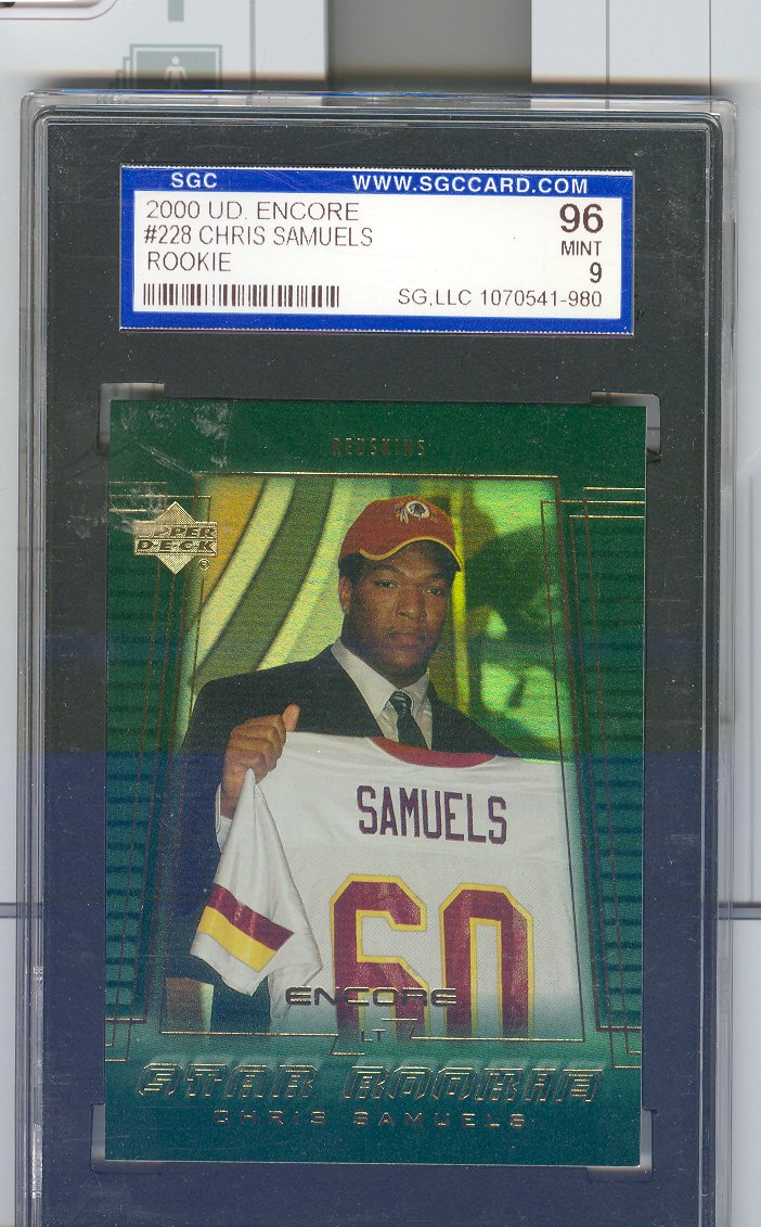 2000 Upper Deck Encore #228 Chris Samuels RC