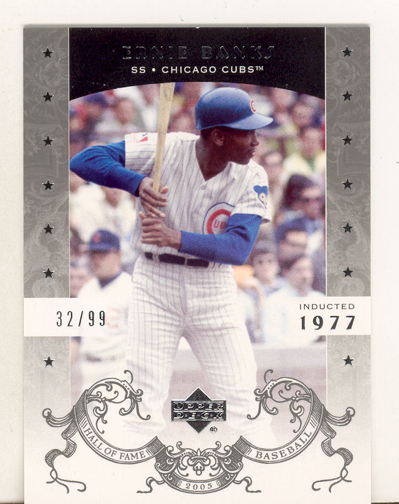 2005 Upper Deck Hall of Fame Silver #25 Ernie Banks