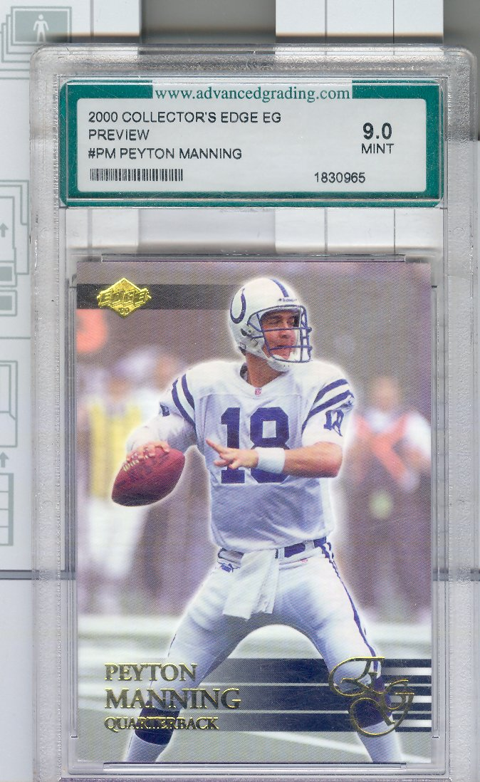 2000 Collector's Edge EG Previews #PM Peyton Manning