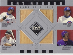 2002 Upper Deck Diamond Connection Bat Around Quads #GSWG Green/Sosa/Walk/L.Gonz