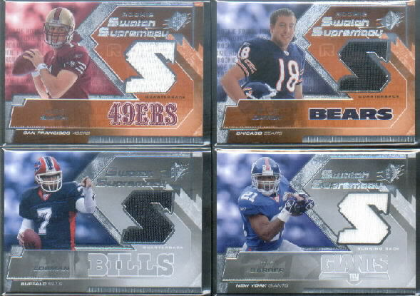 2005 SPx Rookie Swatch Supremacy #RSAS Alex Smith QB