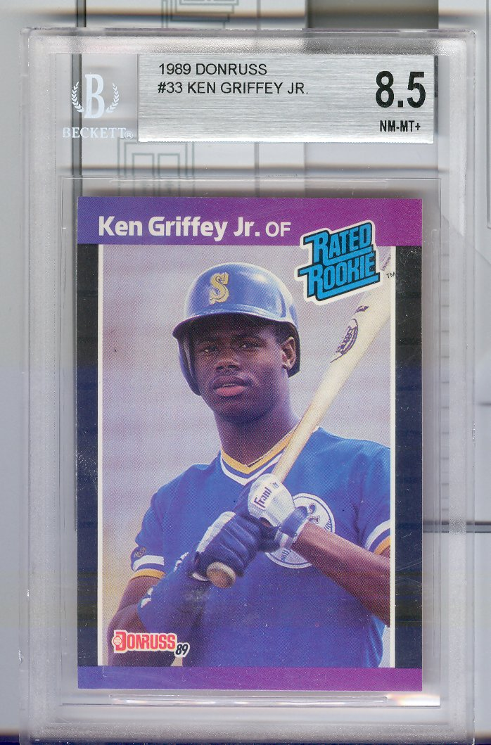 1989 Donruss #33   Ken Griffey Jr.   Beckett Graded 8.5 NM-MT+