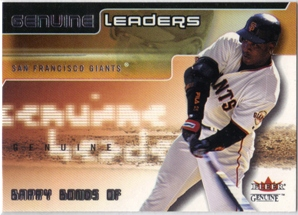 2002 Fleer Genuine Leaders #5 Barry Bonds