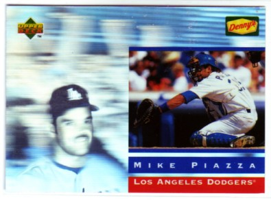 1995 Denny's Holograms #20 Mike Piazza