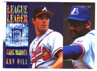 1995 Fleer League Leaders #9 G.Maddux/K.Hill