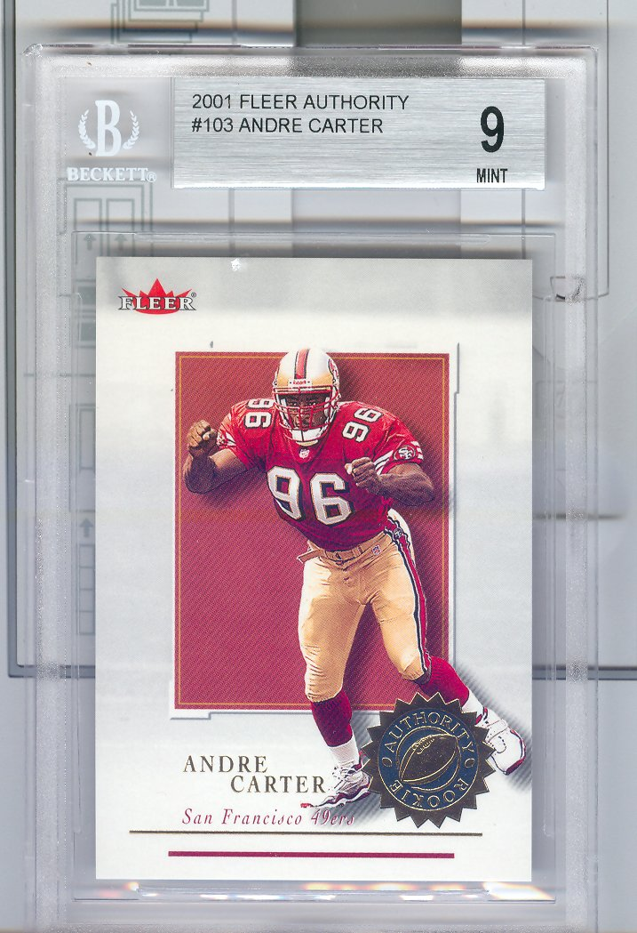 2001 Fleer Authority #103 Andre Carter RC