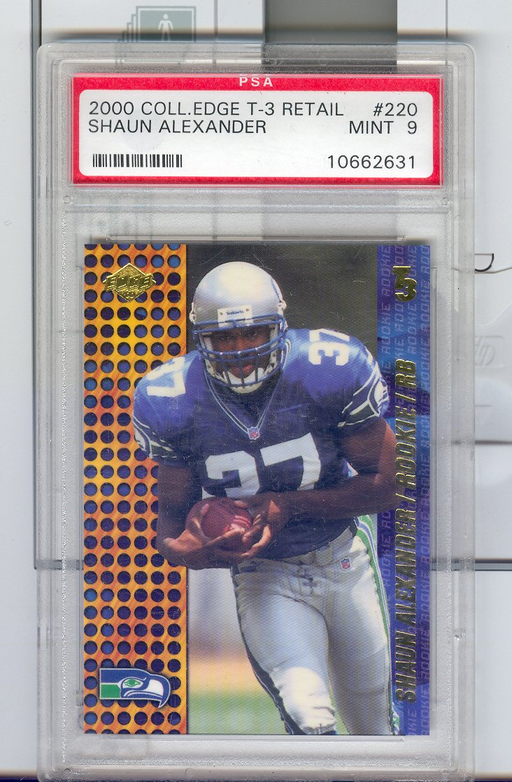 2000  Collector's Edge T-3  Retail #220 Shaun Alexander   $25.00