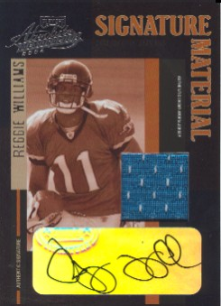 2004 Absolute Memorabilia Signature Material #SM23 Reggie Williams/280