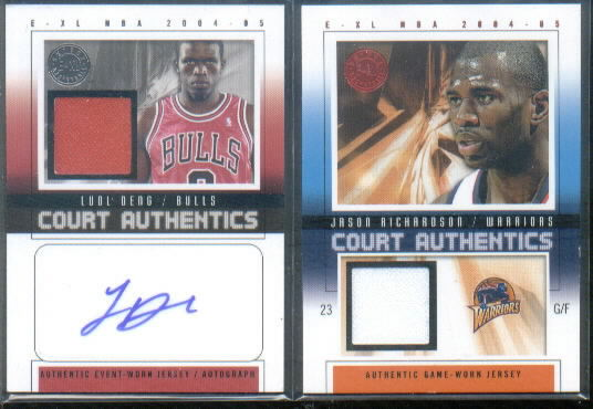2004-05 E-XL Court Authentics Signatures Jerseys #LD Luol Deng
