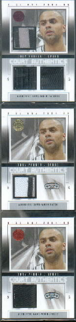 2004-05 E-XL Court Authentics Patches/Warm Ups/Jerseys #TP Tony Parker