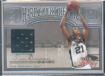 2004-05 Fleer Sweet Sigs Hardcourt Heroics Jerseys #TD Tim Duncan/124