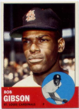 1963 Topps #415 Bob Gibson