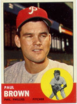 1963 Topps #478 Paul Brown