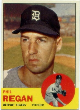 1963 Topps #494 Phil Regan