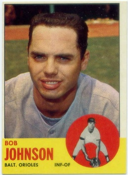1963 Topps #504 Bob Johnson