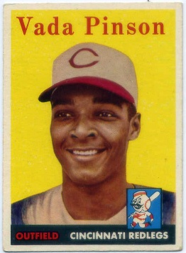 1958 Topps #420 Vada Pinson RC