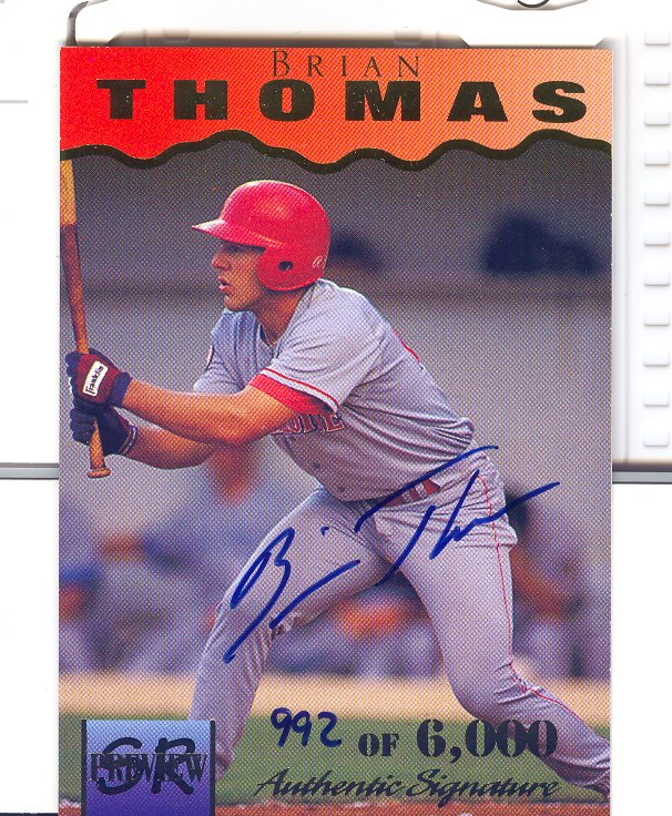 1995 Signature Rookies Previews Signatures #34 Brian Thomas
