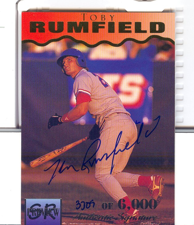 1995 Signature Rookies Previews Signatures #31 Toby Rumfield
