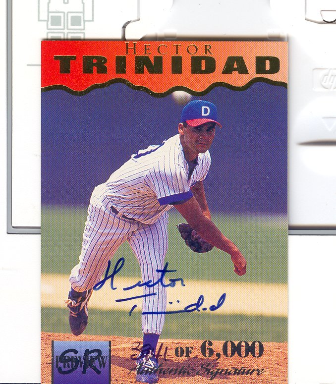 1995 Signature Rookies Previews Signatures #35 Hector Trinidad