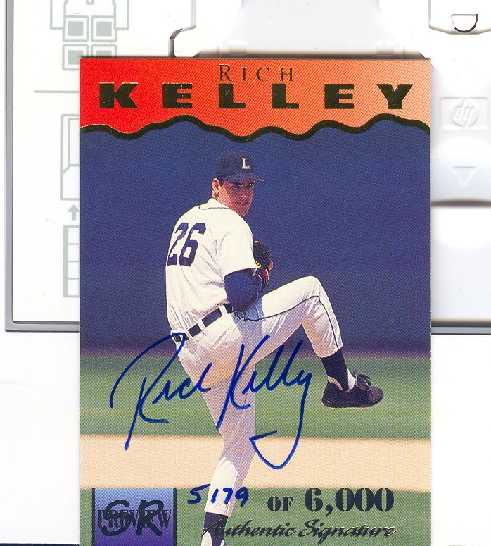 1995 Signature Rookies Previews Signatures #15 Rick Kelley
