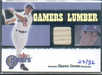 2005 National Pastime Buyback Game Used #SG1 S.Green 00 GM Lum Bat/32