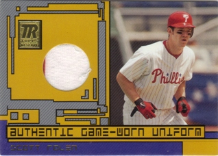 2001 Topps Reserve Game Jerseys #TRRSR Scott Rolen