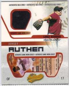 2003 Fleer Authentix Game Jersey #LB Lance Berkman
