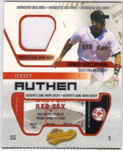2003 Fleer Authentix Game Jersey #NG Nomar Garciaparra