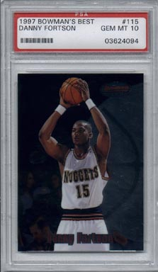 1997/98 Bowman's Best Basketball #115 Danny Fortson Rookie PSA Gem Mint 10