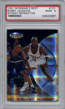 1997/98 Bowman's Best Basketball Bobby Jackson Atomic Refractor Rookie Mint PSA 9 BEAUTIFUL!!