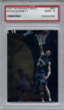 1997/98 Bowman's Best Basketball #90 Kevin Garnett Mint PSA 9 BEAUTIFUL!