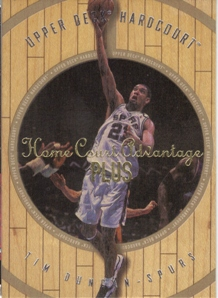 1998 Upper Deck Hardcourt Home Court Advantage Plus #63 Tim Duncan