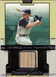 2002 Flair Power Tools Bats #11 Luis Gonzalez