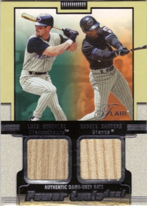 2002 Flair Power Tools Dual Bats #14 Luis Gonzalez/Reggie Sanders