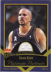 2002-03 Fleer Platinum Portraits Game Worn Jerseys #JK Jason Kidd