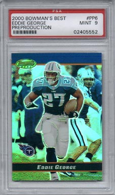2000 Bowman's Best Football #PP6 Eddie George Preproduction Promo Mint PSA 9 Tennessee TITANS NICE!!