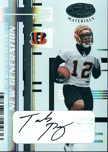 2005 Leaf Certified Materials Mirror White Signatures #187 Tab Perry/100