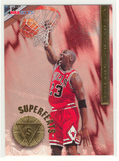 1996-97 Hoops Superfeats #1 Michael Jordan
