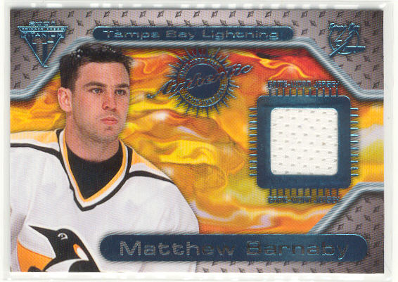 2000-01 Titanium Game Gear #143 Matthew Barnaby