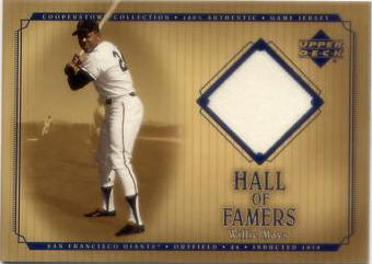 2001 Upper Deck Hall of Famers Game Jersey #JWM Willie Mays