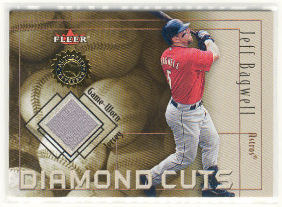 2001 Fleer Authority Diamond Cuts Memorabilia #2 Jeff Bagwell Jsy/1000