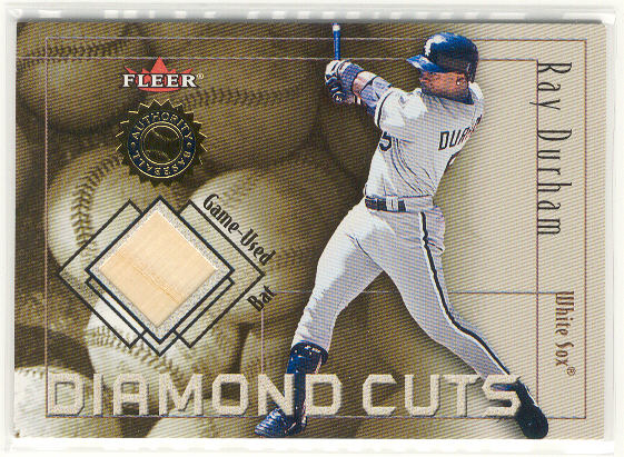 2001 Fleer Authority Diamond Cuts Memorabilia #17 Ray Durham Bat/800
