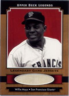 2001 Upper Deck Legends Legendary Game Jersey #JWM Willie Mays