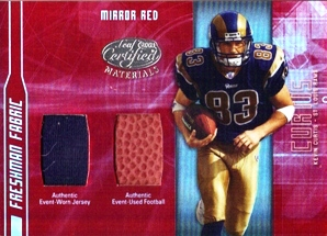 2003 Leaf Certified Materials Mirror Red #173 Kevin Curtis FB/JSY