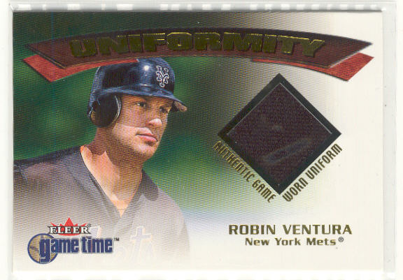 2001 Fleer Game Time Uniformity #20 Robin Ventura