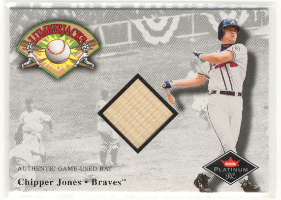 2001 Fleer Platinum Lumberjacks #19 Chipper Jones