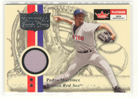 2001 Fleer Platinum National Patch Time #12 Pedro Martinez S1