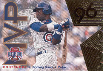 1996 Leaf All-Star Game MVP Contenders Gold #3 Sammy Sosa